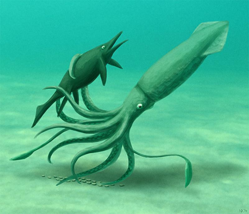 Triassic Kraken – Ein Riesenkrake auf der Jagd nach Fischsauriern?